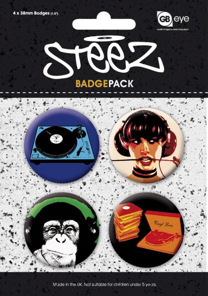 Plakietki zestaw STEEZ - Pack 1