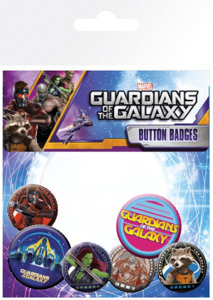 Plakietki zestaw Strażnicy Galaktyki - Characters