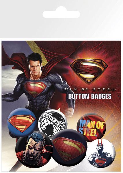 Plakietki zestaw SUPERMAN MAN OF STEEL