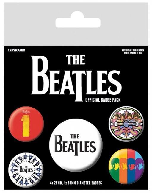 Plakietki zestaw The Beatles - Black