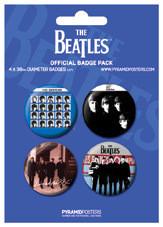 Plakietki zestaw THE BEATLES - Blue