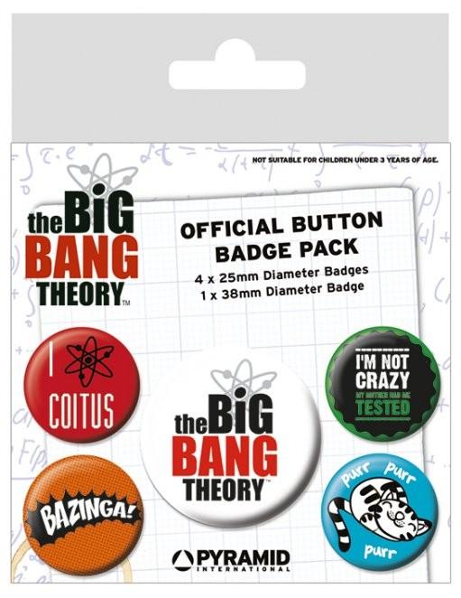 Plakietki zestaw The Big Bang Theory (Teoria wielkiego podrywu) - Logo