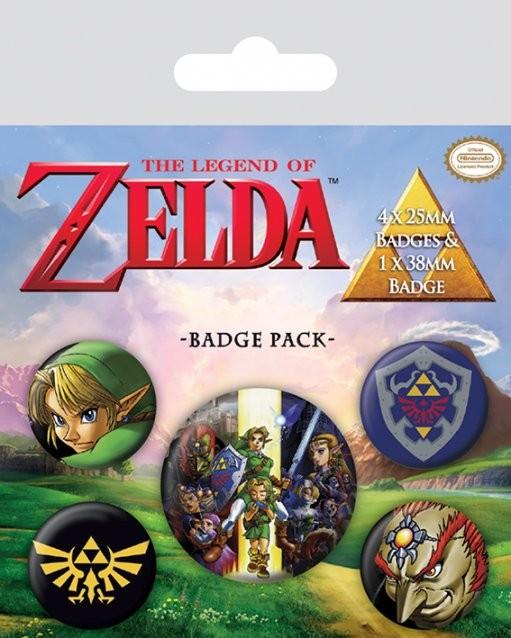 Plakietki zestaw The Legend Of Zelda