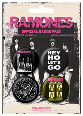 Plakietki zestaw THE RAMONES