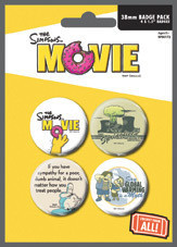 Plakietki zestaw THE SIMPSONS MOVIE - environmentaly