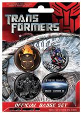 Plakietki zestaw TRANSFORMERS - War