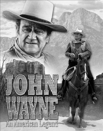 Plaque en métal JOHN WAYNE - American Legend