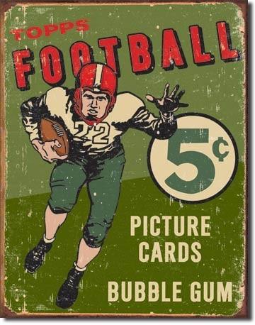 Plaque en métal TOPPS 1956 FOOTBALL