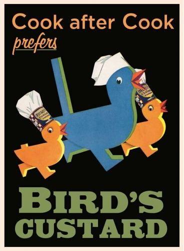 BIRD'S CUSTARD Plåtskyltar