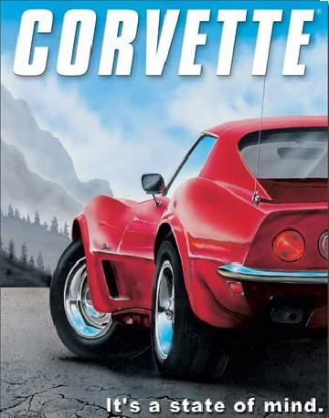 CORVETTE - state of mind Plåtskyltar