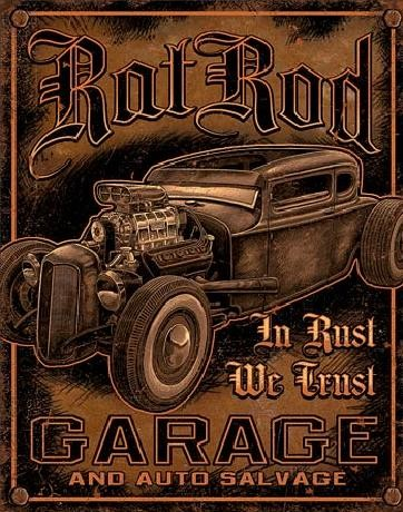 GARAGE - Rat Rod Plåtskyltar