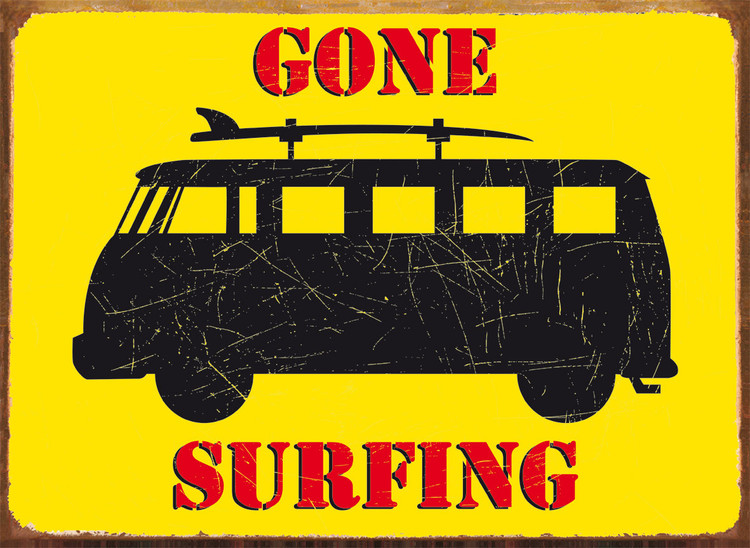 GONE SURFING Plåtskyltar