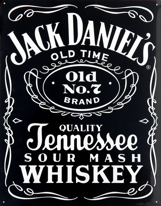 JACK DANIEL'S  BLACK Plåtskyltar