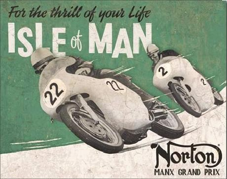 NORTON - Isle of Man Plåtskyltar