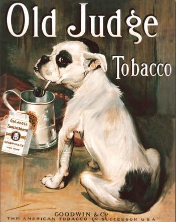 Old Judge Tobacco Plåtskyltar