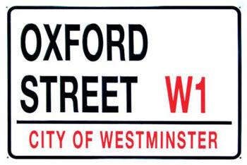 OXFORD STREET Plåtskyltar