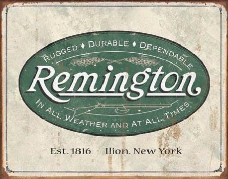 REM - weathered logo Plåtskyltar