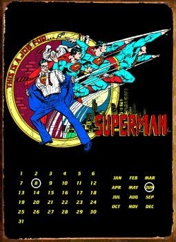SUPERMAN TRANSFORM Plåtskyltar