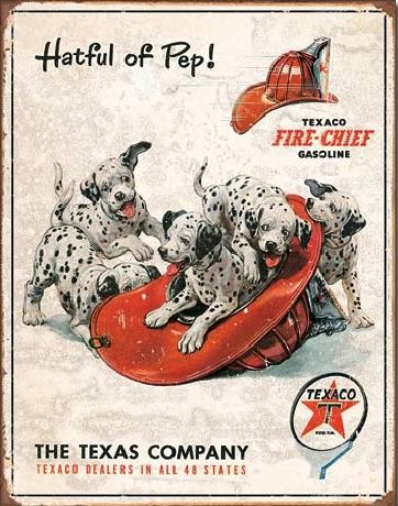 TEXACO - Hatful of Pep Plåtskyltar