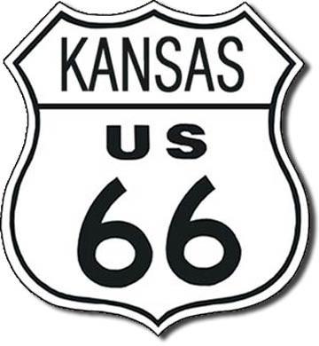 US 66 - kansas Plåtskyltar