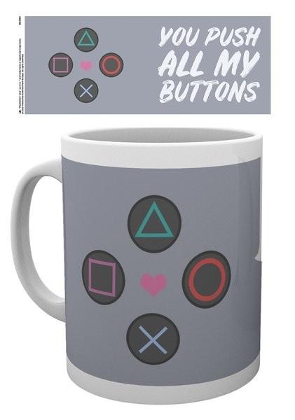Hrnek Playstation - Push my Buttons