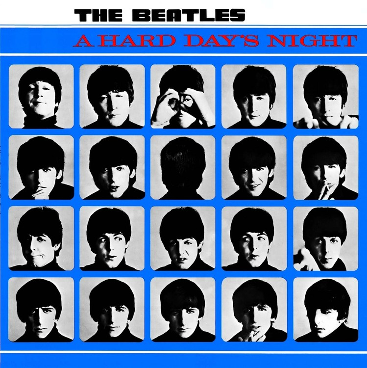 A HARD DAY'S  NIGHT ALBUM COVER - plechová cedule