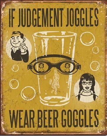 Plechová ceduľa  BEER - If Judgement Joggles