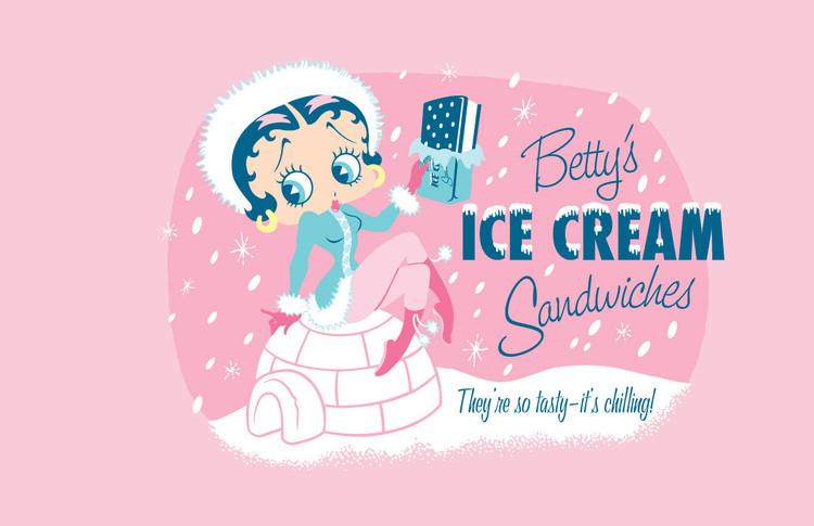 Plechová cedule BETTY'S ICE CREAM SANDWITCH
