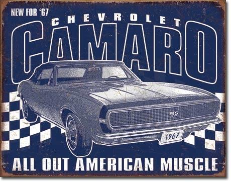 Plechová cedule  Camaro - 1967 Muscle