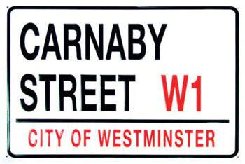 Plechová cedule CARNABY STREET
