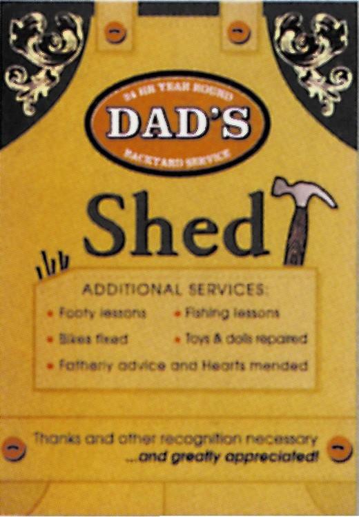 Plechová cedule DAD'S - Shed