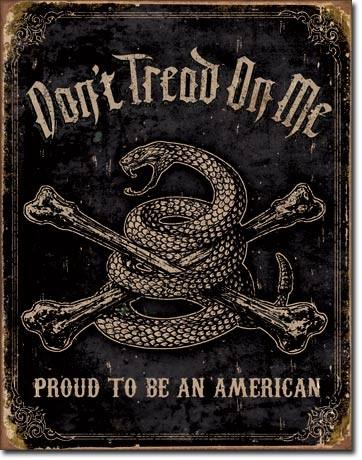 Plechová cedule DTOM - Proud to be American