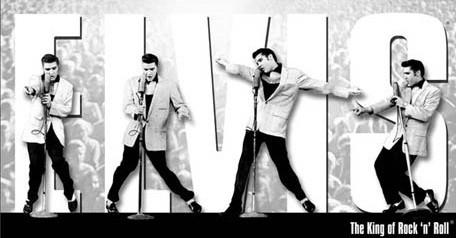 Plechová cedule Elvis Presley - King Montage