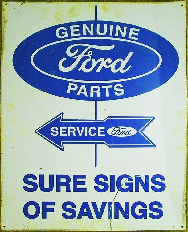 Plechová cedule FORD PARTS AND SERVICE