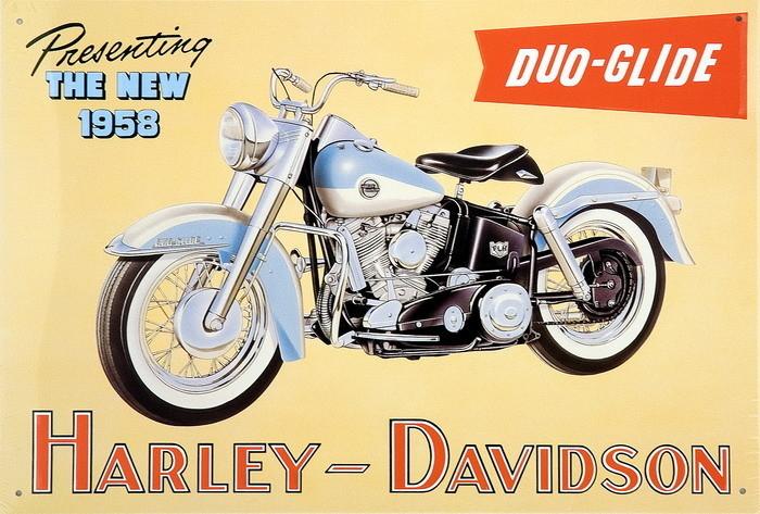 Plechová cedule HARLEY DAVIDSON - duo glide