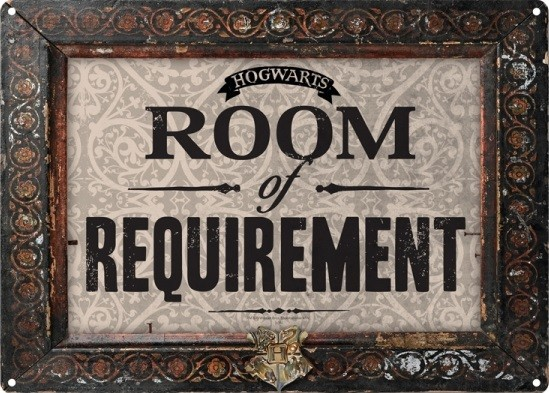 Plechová cedule Harry Potter - Room Of Requirement