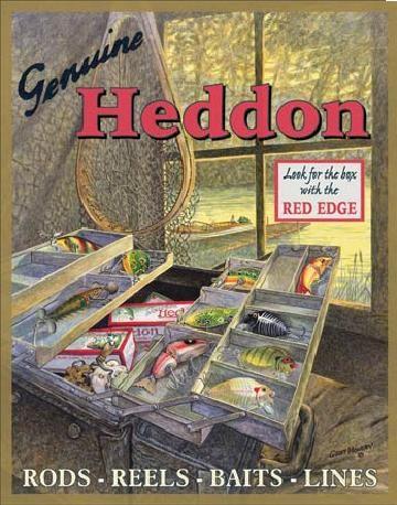 Plechová cedule HEDDONS - Tackle Box