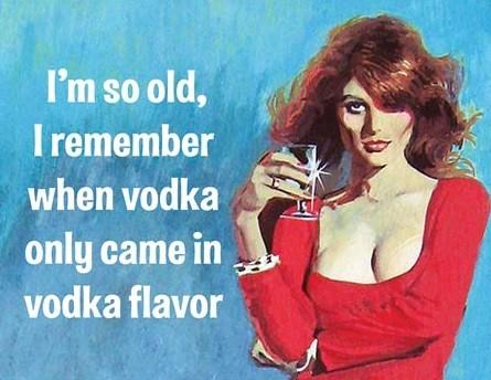 Plechová cedule  I'm So Old - Vodka