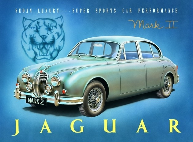 Plechová cedule Jaguar MK2