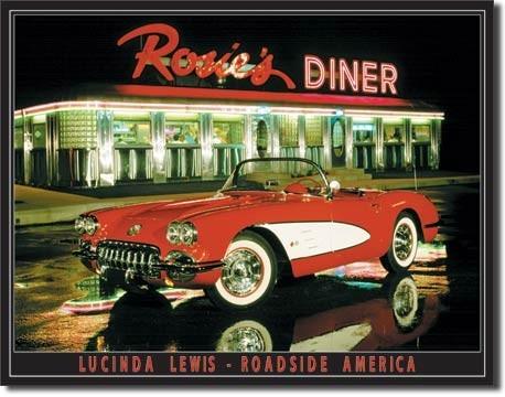Plechová cedule LEWIS - rosie's diner