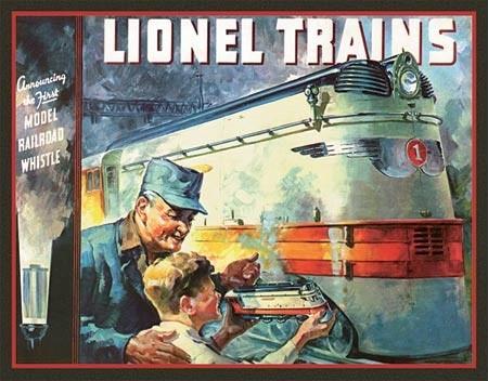 Plechová cedule Lionel 1935 Cover