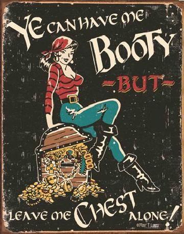 Plechová cedule  MOORE - Me Booty