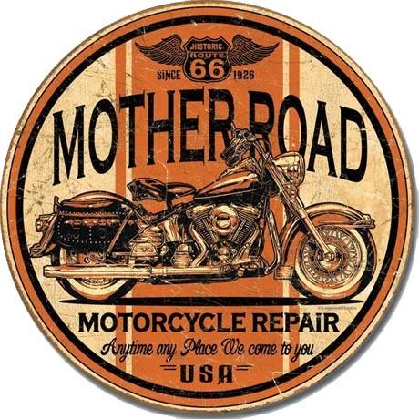 Plechová ceduľa MOTHER - road repair