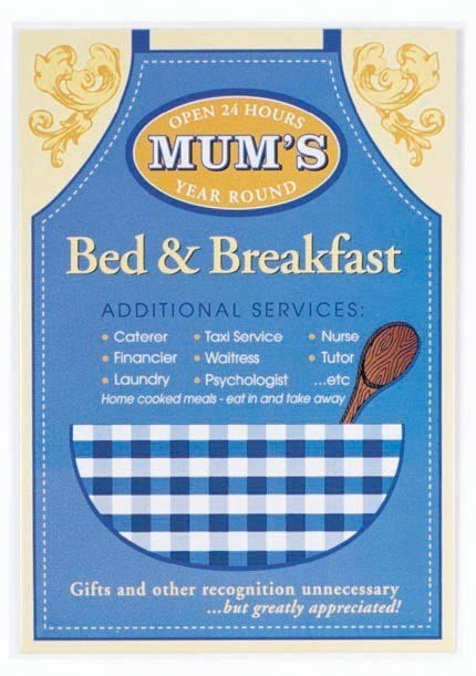 MUM'S - Bed and breakfast -  plechová cedule