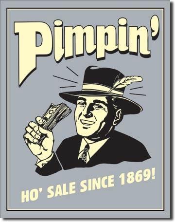 Plechová cedule PIMPIN - ho sale since 1869