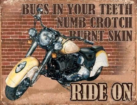 Plechová cedule  Ride On