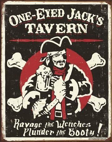 Plechová cedule SCHOENBERG - One Eyed Jack's Tavern