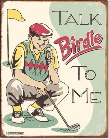 Plechová cedule SCHOENBERG - talk birdie to me