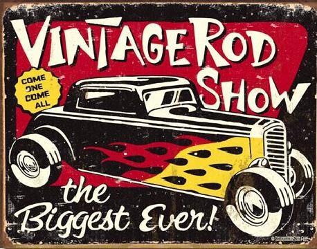 Plechová cedule SCHOENBERG - Vintage Rodshow