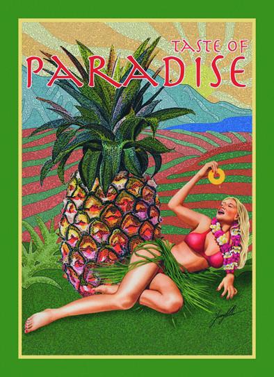 Plechová cedule TASTE OF PARADISE